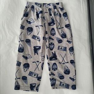 Carter's Grey Hockey Fleece Pajama Bottom 3T